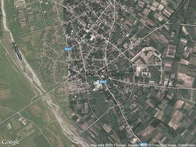 Сателитна карта на Черногорово
