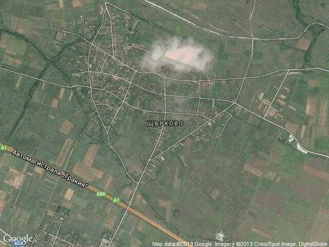 Сателитна карта на Щърково