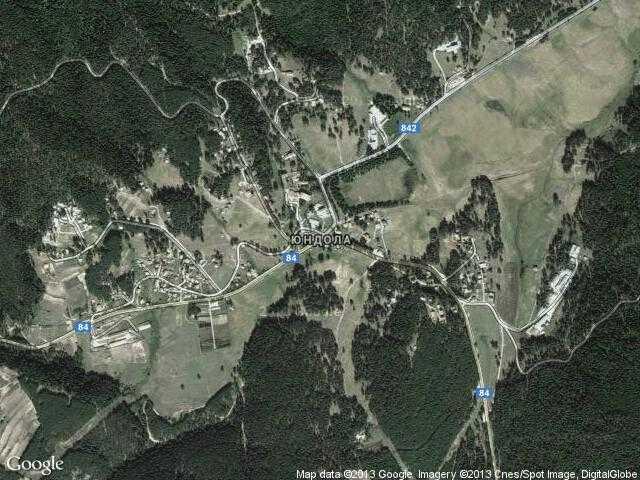 Сателитна карта на Юндола