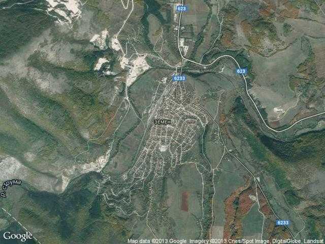 Сателитна карта на Земен
