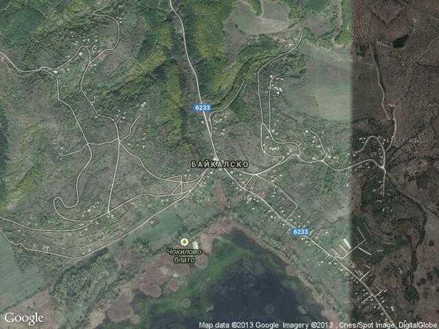 Сателитна карта на Байкалско