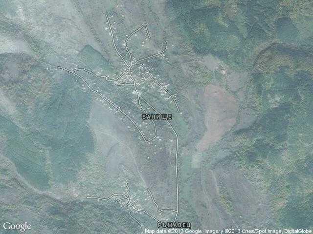 Сателитна карта на Банище