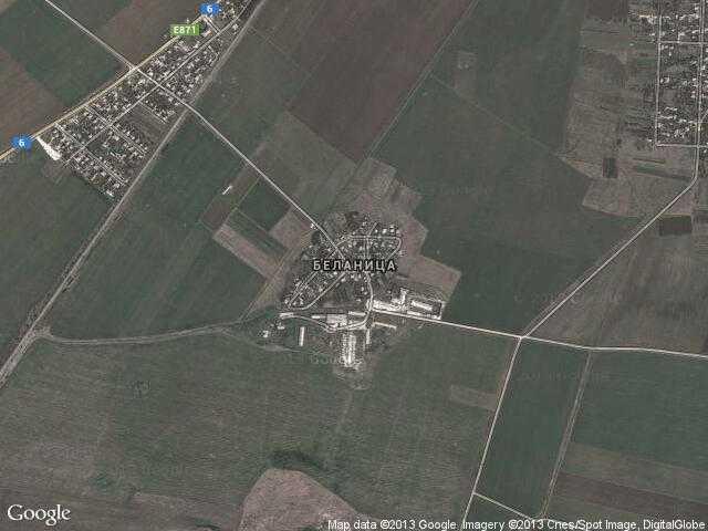 Сателитна карта на Беланица