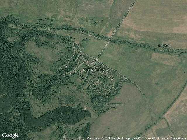 Сателитна карта на Берайнци