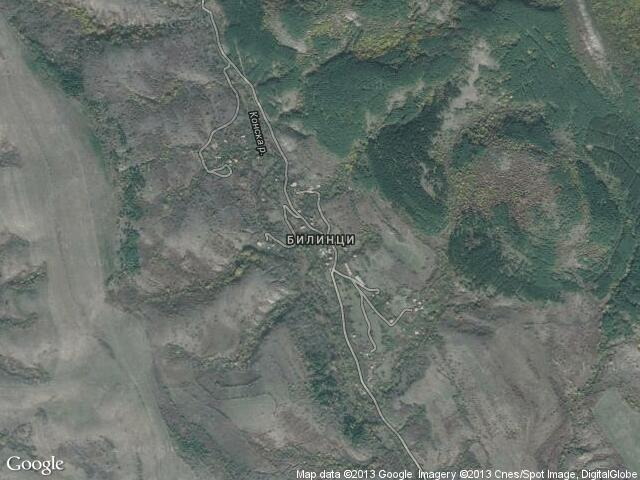 Сателитна карта на Билинци