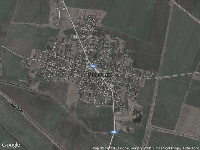 Сателитна карта на Бобораци