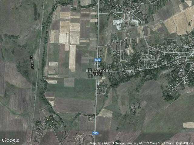 Сателитна карта на Богданов дол