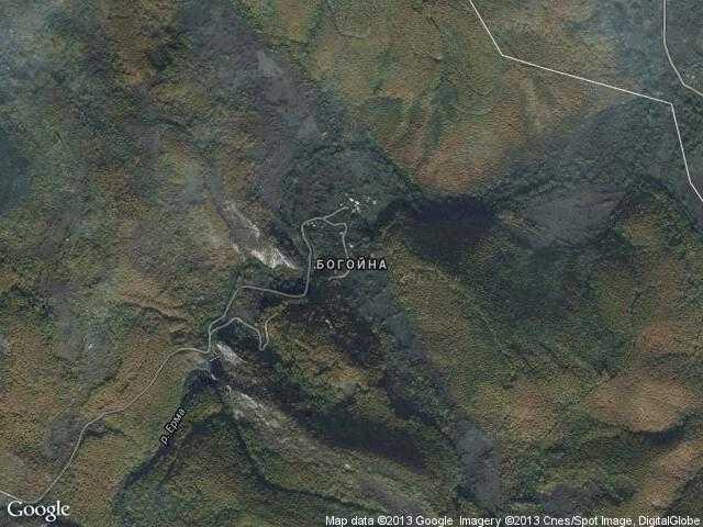 Сателитна карта на Богойна