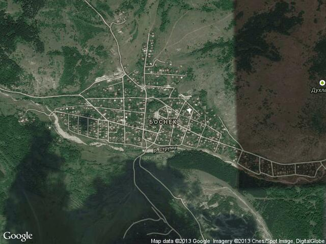 Сателитна карта на Боснек
