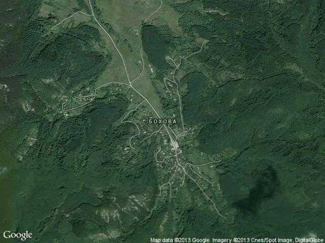 Сателитна карта на Бохова