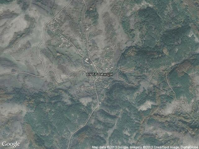 Сателитна карта на Бутроинци