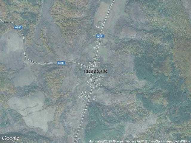 Сателитна карта на Велиново
