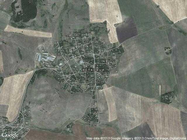 Сателитна карта на Велковци