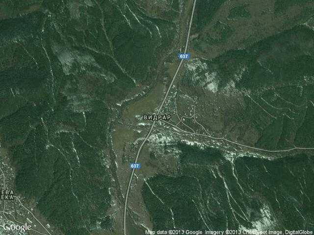Сателитна карта на Видрар