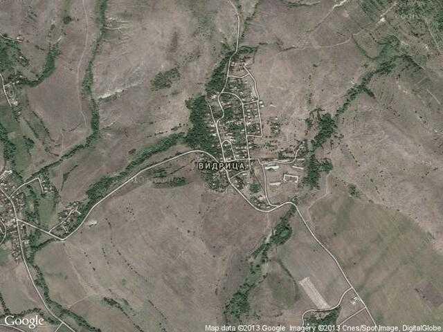 Сателитна карта на Видрица