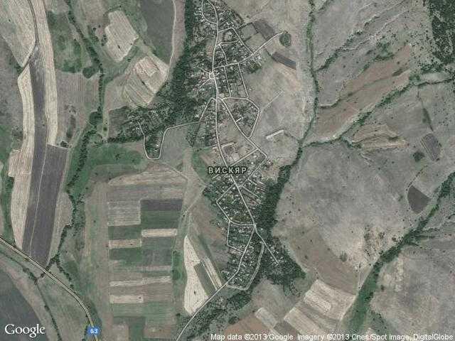 Сателитна карта на Вискяр