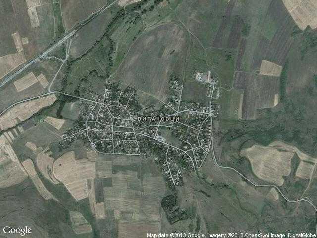 Сателитна карта на Витановци