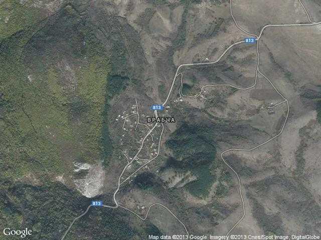 Сателитна карта на Врабча