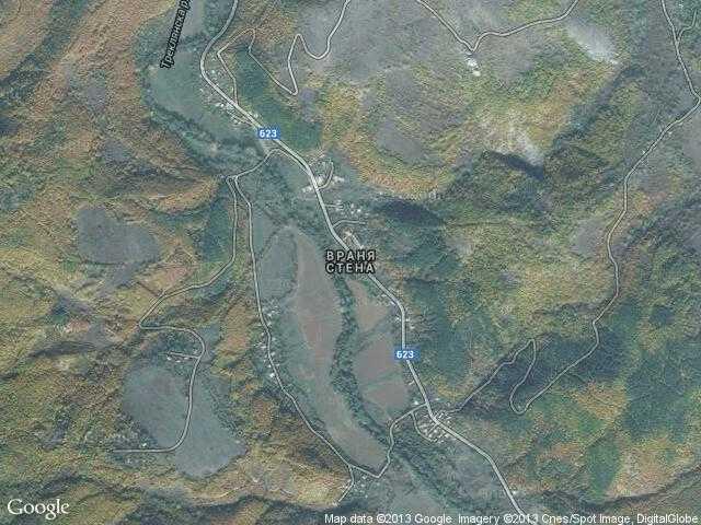 Сателитна карта на Враня стена