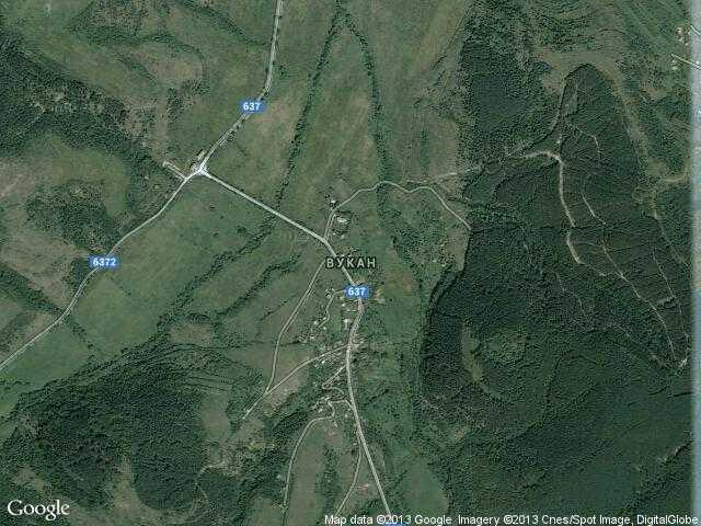 Сателитна карта на Вукан