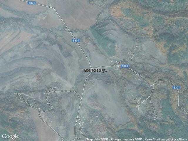 Сателитна карта на Глоговица