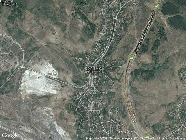 Сателитна карта на Големо Бучино