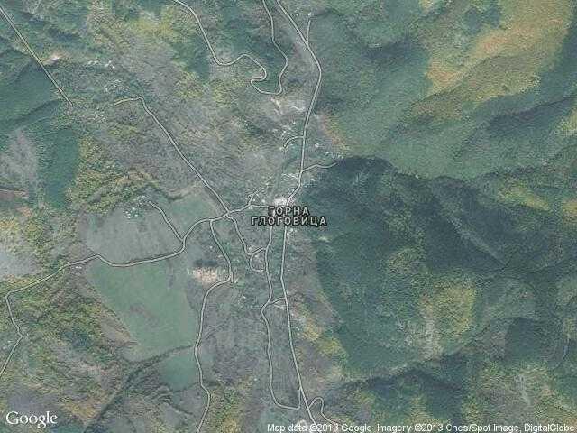 Сателитна карта на Горна Глоговица