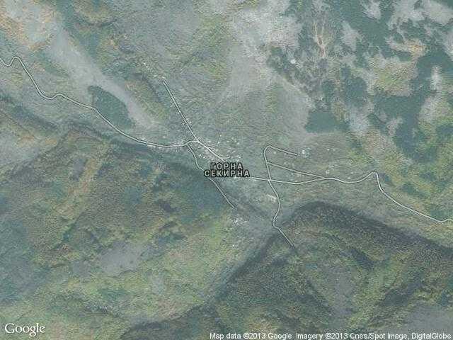 Сателитна карта на Горна Секирна