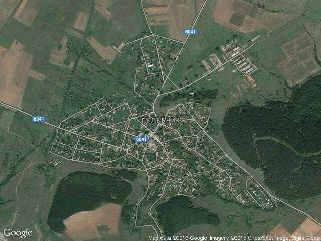 Сателитна карта на Гълъбник