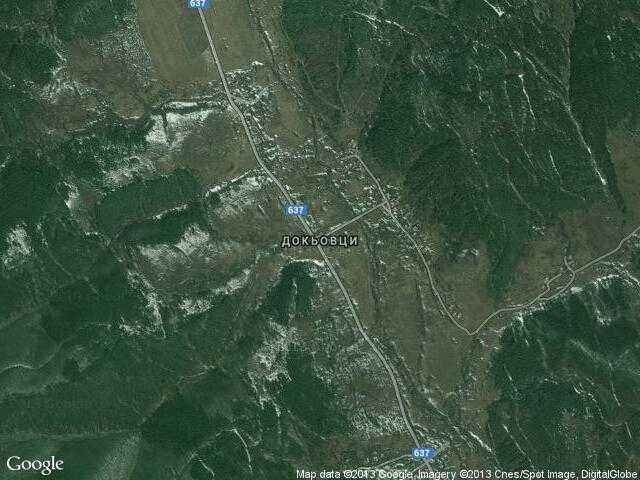 Сателитна карта на Докьовци