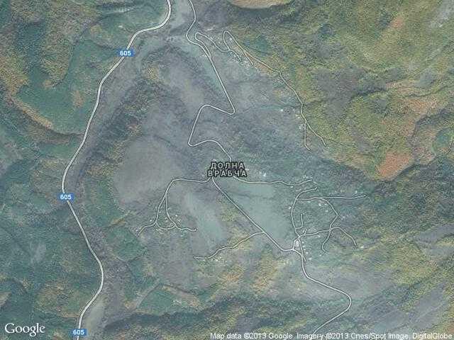 Сателитна карта на Долна Врабча