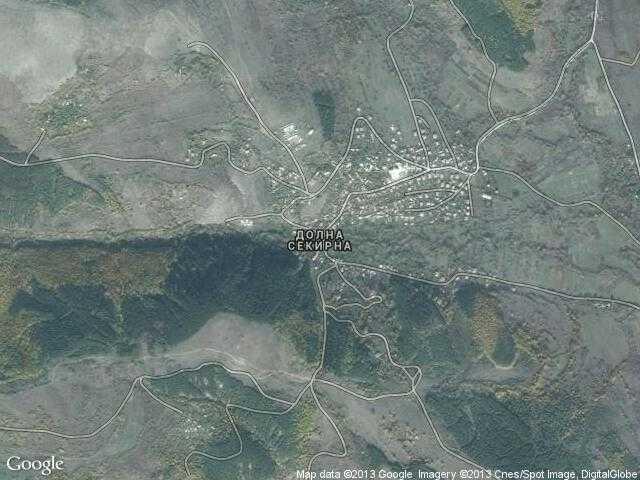 Сателитна карта на Долна Секирна
