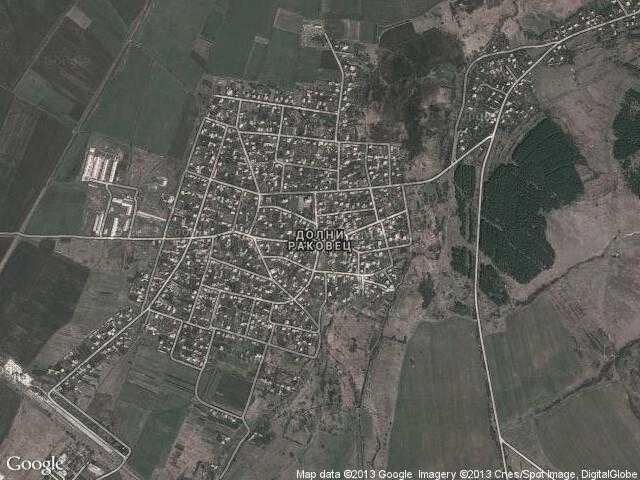 Сателитна карта на Долни Раковец