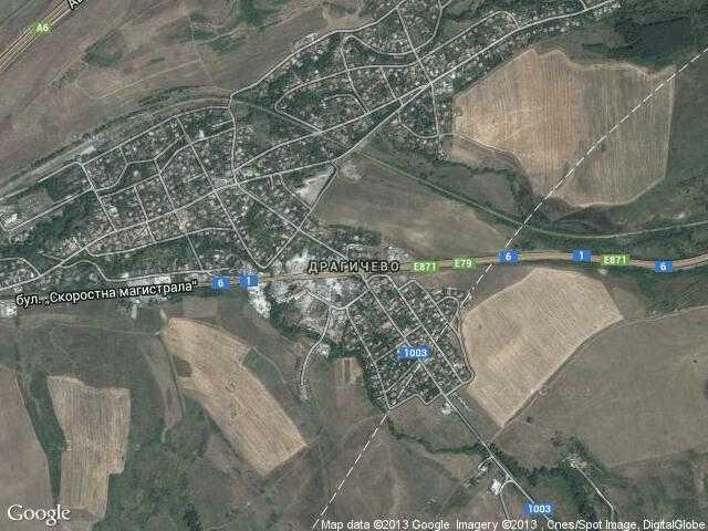 Сателитна карта на Драгичево
