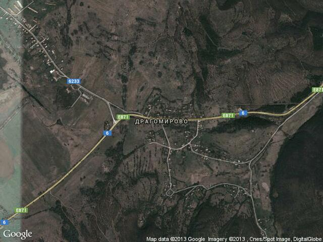 Сателитна карта на Драгомирово