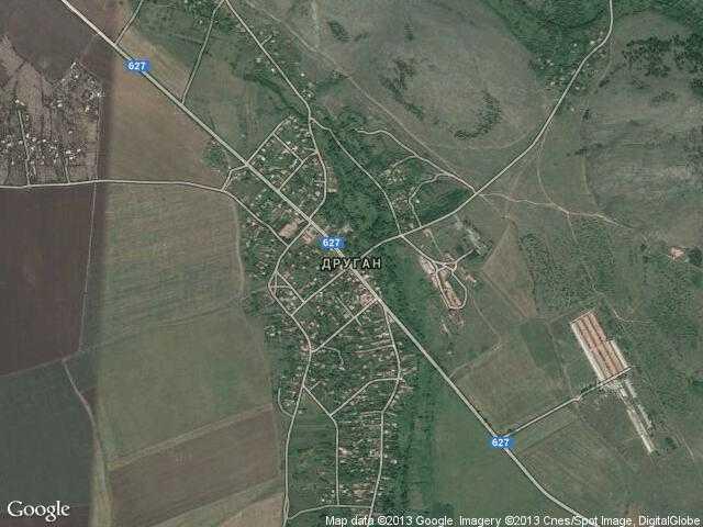 Сателитна карта на Друган