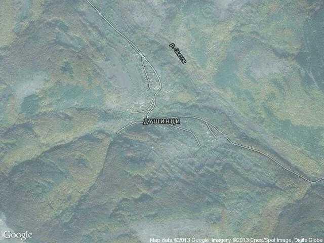 Сателитна карта на Душинци