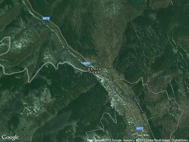Сателитна карта на Дълга лука