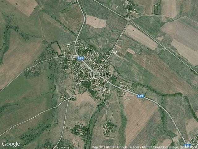 Сателитна карта на Егълница