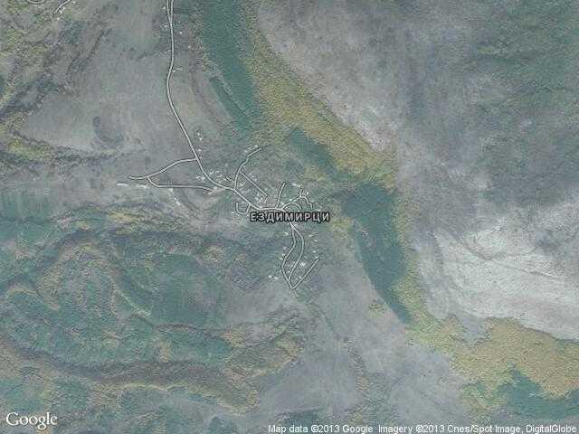 Сателитна карта на Ездимирци