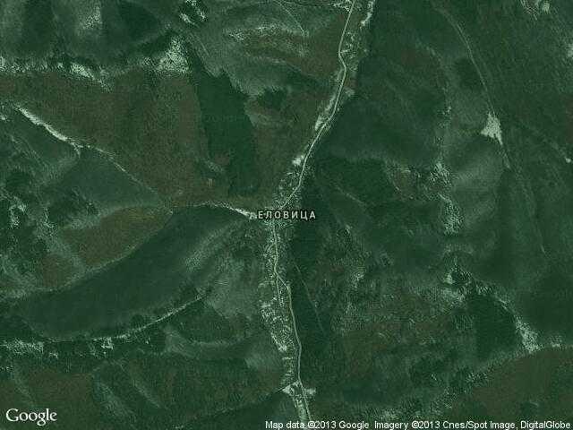 Сателитна карта на Еловица