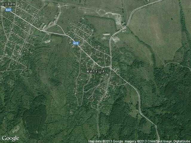 Сателитна карта на Житуша