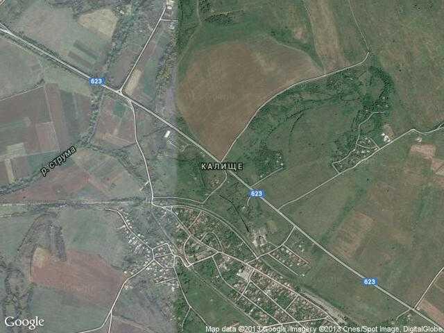 Сателитна карта на Калище