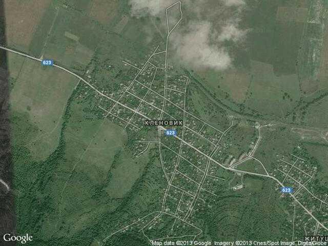 Сателитна карта на Кленовик