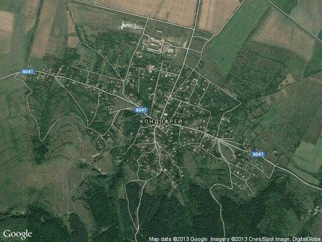 Сателитна карта на Кондофрей