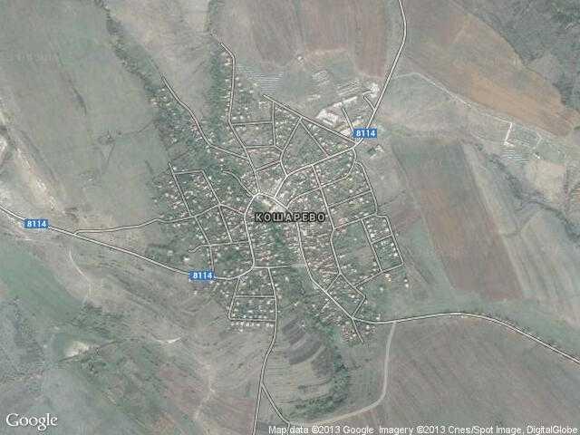 Сателитна карта на Кошарево
