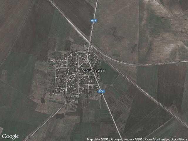 Сателитна карта на Кошарите