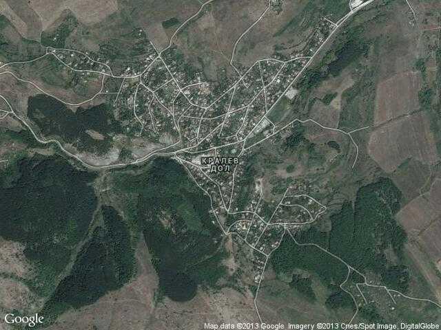 Сателитна карта на Кралев дол