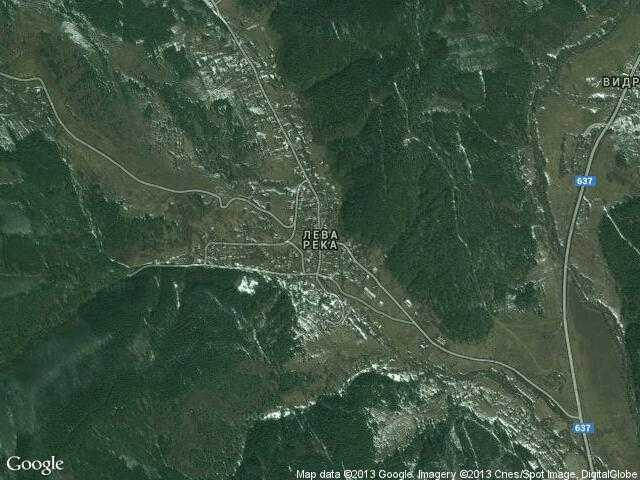 Сателитна карта на Лева река