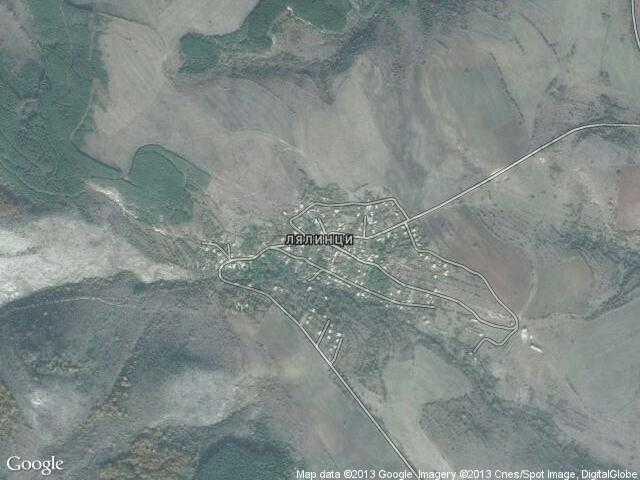 Сателитна карта на Лялинци